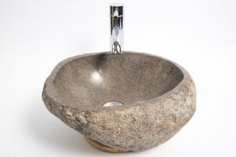 Lavoar piatra Ego RIVER STONE RSB1 Q15 wash basin overtop