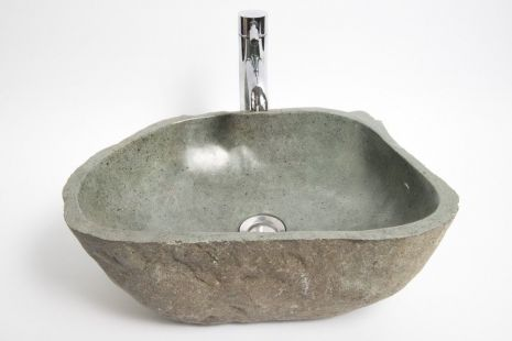 Lavoar piatra Ego RIVER STONE RSB1 Q8 wash basin overtop