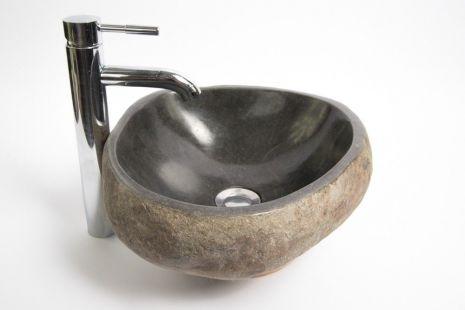 Lavoar piatra Ego RIVER STONE RSB1 Q3 wash basin overtop