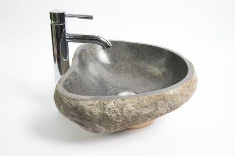 Lavoar piatra Ego RIVER STONE RSB1 Q2 wash basin overtop