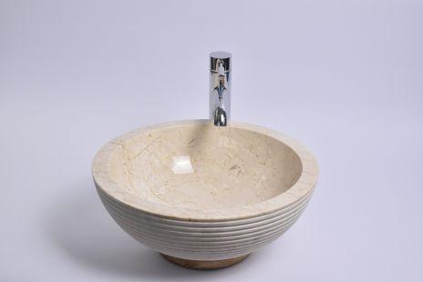 Lavoar piatra Ego KC-A Cream C 40 cm wash basin overtop