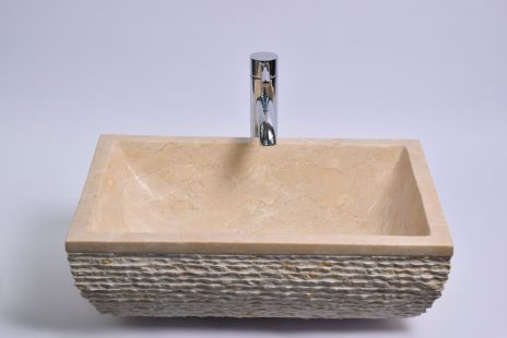 Lavoar piatra Ego RCU-M CREAM J 50x35 cm wash basin overtop