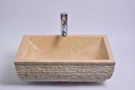Lavoar piatra Ego RCU-M CREAM I 50x35 cm wash basin overtop