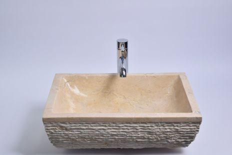 Lavoar piatra Ego RCU-M CREAM G 50x35 cm wash basin overtop