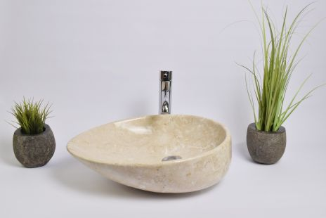 Lavoar piatra Ego OV-CLSD CREAM E 50x35 cm wash basin overtop