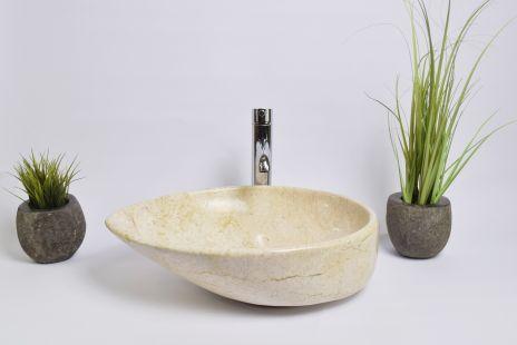 Lavoar piatra Ego OV-CLSD CREAM D 50x35 cm wash basin overtop