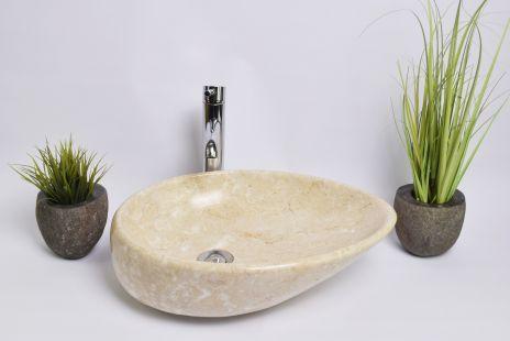 Lavoar piatra Ego OV-CLSD CREAM B 50x35 cm wash basin overtop