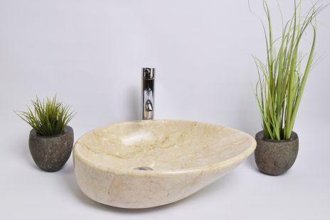 Lavoar piatra Ego OV-CLSD CREAM A 50x35 cm wash basin overtop