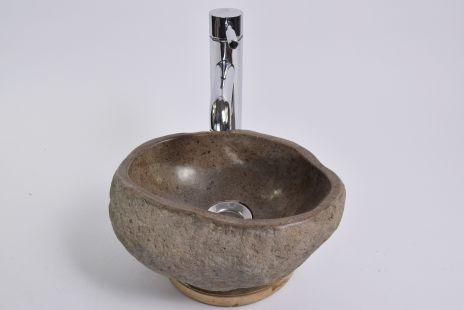 Lavoar piatra Ego RIVER STONE MINI X4 (29x25 cm) wash basin overtop