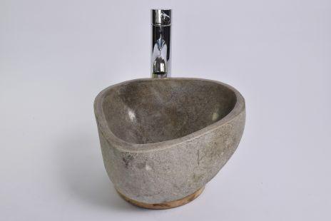 Lavoar piatra Ego RIVER STONE MINI X1 (29x29 cm) wash basin overtop