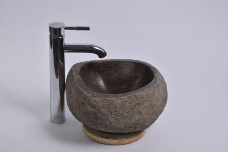 Lavoar piatra Ego RIVER STONE MINI Q4 (29x27 cm) wash basin overtop