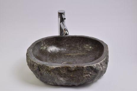 Lavoar piatra Ego EROSI Negru I wash basin overtop