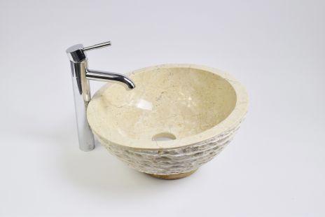 Lavoar piatra Ego MR-M Cream T2 40 cm wash basin overtop