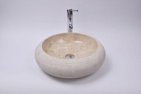 Lavoar piatra Ego DN-G CREAM B2 45 cm wash basin overtop