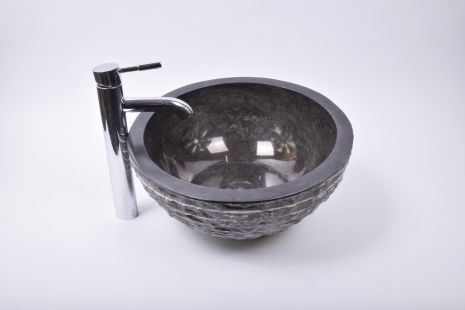 Lavoar piatra Ego MR-M BLACK RM5 40 cm wash basin overtop