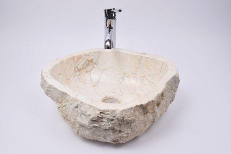 Lavoar piatra Ego EROSI White BE2 wash basin overtop