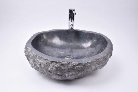 Lavoar piatra Ego EROSI Negru NM12 wash basin overtop