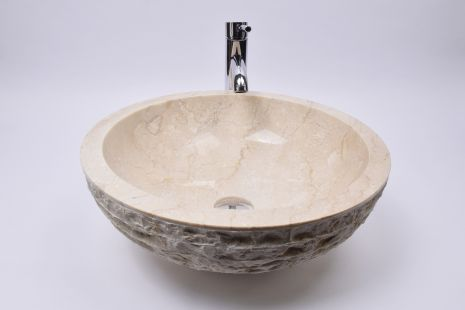 Lavoar piatra Ego KC-M Cream C 45 cm wash basin overtop