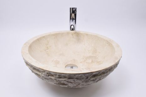 Lavoar piatra Ego KC-M Cream A 45 cm wash basin overtop