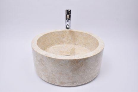 Lavoar piatra Ego SL-P Cream A 40 cm wash basin overtop
