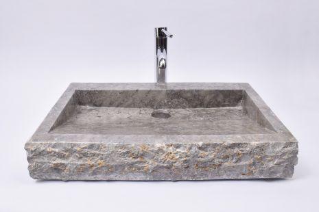 Lavoar piatra Ego RCKL-S-FM Grey 60x40x10 FM5 wash basin overtop