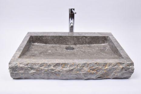Lavoar piatra Ego RCKL-S-FM Grey 60x40x10 FM4 wash basin overtop