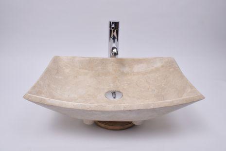 Lavoar piatra Ego KOTAKA CREAM P3 50x35x14 wash basin overtop