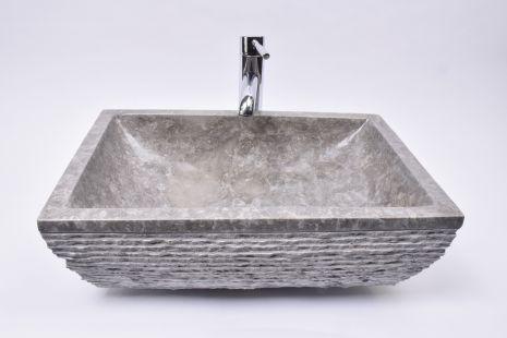 Lavoar piatra Ego RCU-M GREY AA2 50x35 cm wash basin overtop INDUSTOE