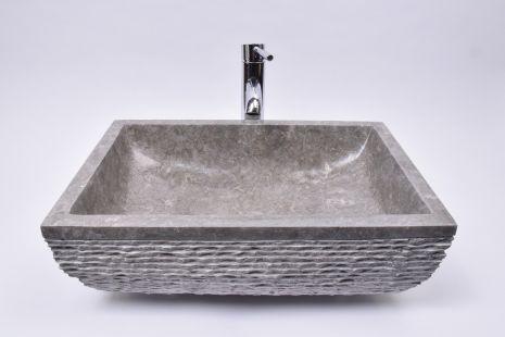 Lavoar piatra Ego RCU-M GREY AA1 50x35 cm wash basin overtop INDUSTOE