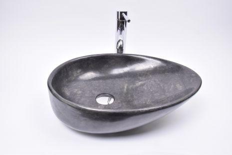 Lavoar piatra Ego OV-CLSD BLACK FF5 50x35 cm wash basin overtop