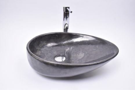 Lavoar piatra Ego OV-CLSD BLACK FF3 50x35 cm wash basin overtop