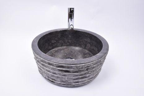 Lavoar piatra Ego LY-M BLACK M 40 cm wash basin overtop
