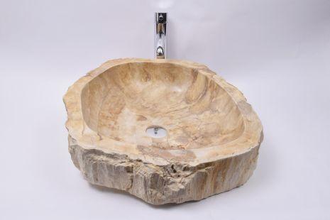 Lavoar piatra Ego Fossil Wood 50 FW5 wash basin overtop