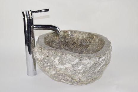 Lavoar piatra Ego EROSI Grey NG3 wash basin overtop