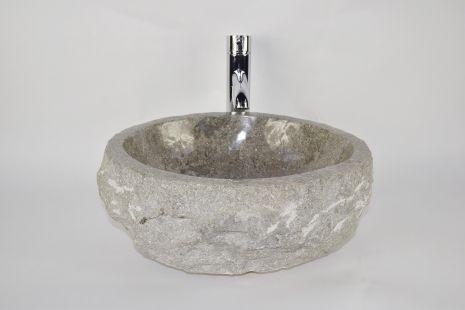 Lavoar piatra Ego EROSI Grey NG2 wash basin overtop
