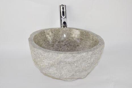 Lavoar piatra Ego EROSI Grey NG1 wash basin overtop