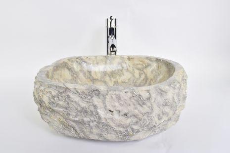 Lavoar piatra Ego EROSI Silver Grey SGS1 wash basin overtop