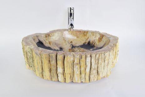 Lavoar piatra Ego PWO-B fossil wood black LARGE PB8 wash basin overtop