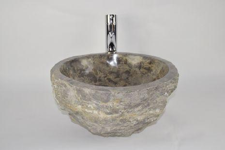Lavoar piatra Ego EROSI Grey NG19 wash basin overtop