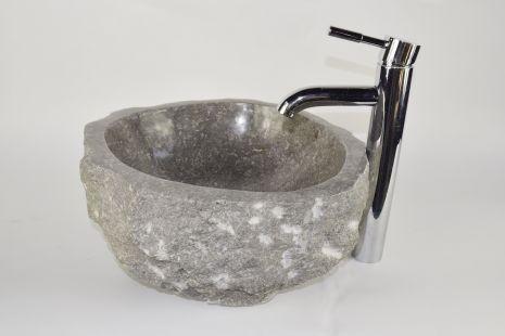 Lavoar piatra Ego EROSI Grey NG12 wash basin overtop