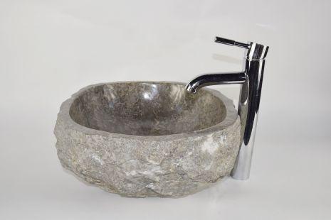 Lavoar piatra Ego EROSI Grey NG10 wash basin overtop