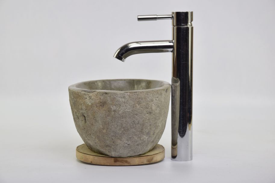 Lavoar piatra Ego RIVER STONE RSB MINI X10 wash basin overtop