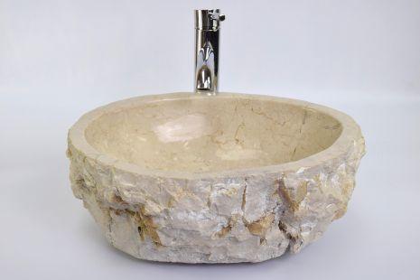 Lavoar piatra Ego EROSI Cream EC9 wash basin overtop
