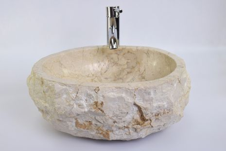 Lavoar piatra Ego EROSI Cream EC8 wash basin overtop