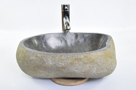 Lavoar piatra Ego RIVER STONE RSB1 Q84 wash basin overtop
