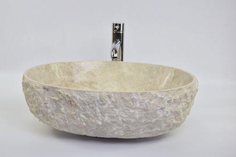 Lavoar piatra Ego OV-FM CREAM HK6 50x40 cm wash basin overtop