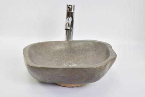 Lavoar piatra Ego RIVER STONE BURU BR3 wash basin overtop