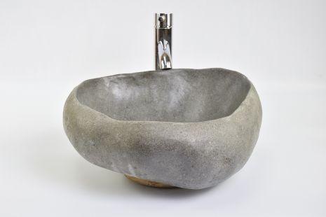 Lavoar piatra Ego River Stone TIMOR OL6 wash basin overtop