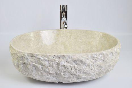 Lavoar piatra Ego OV-FM CREAM HK13 50x40 cm wash basin overtop