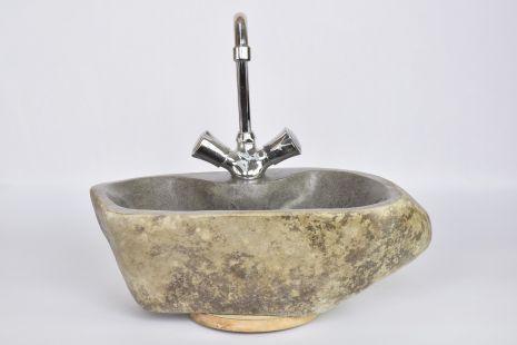 Lavoar piatra Ego RIVER STONE LOTOS I polished wash basin overtop